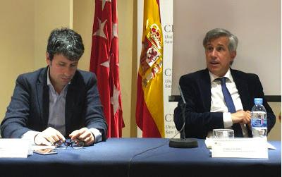 José Luis Pérez (COPE) e Ignacio Elguero (RNE) en un momento de su intervención